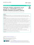Hydrogen inhibits endometrial cancer growth via a ROS/NLRP3/caspase-1/ GSDMD-mediated pyroptotic pathway