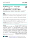 The effect of diabetes on the risk of endometrial Cancer: An updated a systematic review and meta-analysis