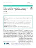 Dietary restriction during the treatment of cancer: Results of a systematic scoping review