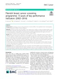 Flemish breast cancer screening programme: 15 years of key performance indicators (2002–2016)