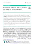 A systematic analysis of immune genes and overall survival in cancer patients