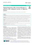 Hyperprogression after immunotherapy in patients with malignant tumors of digestive system