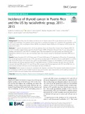 Incidence of thyroid cancer in Puerto Rico and the US by racial/ethnic group, 2011-2015