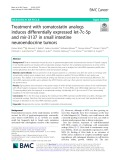 Treatment with somatostatin analogs induces differentially expressed let-7c-5p and mir-3137 in small intestine neuroendocrine tumors