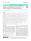 Validity and reliability of the EQ-5D-5 L in family caregivers of leukemia patients