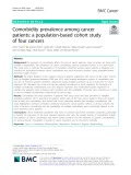 Comorbidity prevalence among cancer patients: A population-based cohort study of four cancers