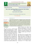 Effect of soil application of silicon on growth and yield attributes of rice (Oryza sativa L.)