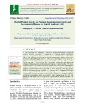 Effect of planting density and nutrient requirement on growth and development of banana cv. Quintal Nendran (AAB)