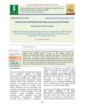Maternal and child health knowledge among agrarian mothers