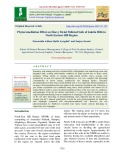 Phytoremediation effect on heavy metal polluted soils of Jaintia hills in north Eastern Hill region