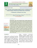 Socio - economic and psychological profile of farmers with reference to climate change in western agro climatic zone of Tamil Nadu