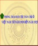 Bài giảng môn Lịch sử lớp 12 – Bài 12: Phong trào dân tộc dân chủ ở Việt Nam từ năm 1919 đến năm 1925 (Tiết 2) - Đoàn Ngọc Sỹ