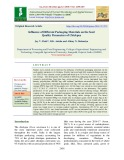 Influence of different packaging materials on the seed quality parameters of chickpea