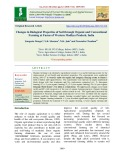 Changes in biological properties of soil through organic and conventional farming at farms of western Madhya Pradesh, India