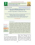 Influence of various crop establishment methods and weed management approaches on weed dynamics in rice crop