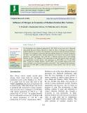 Influence of nitrogen on economics of medium duration rice varieties