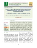 Studies on the effect of planting density and nutrient management on yield, fruit quality and post harvest characters in Banana cv. Ney Poovan under coconut