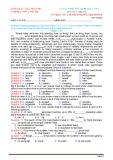 Đề thi thử THPT quốc gia môn Tiếng Anh lần 1 (Mã đề 519)