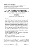 An analysis of application of key financial ratios for human resources valuation in organizations