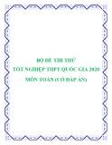 Bộ đề thi thử tốt nghiệp THPT Quốc gia 2020 môn Toán (Có đáp án)
