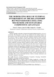 The moderating role of external environment on the relationship between resource isolating mechanism and sustainable competitive advantage