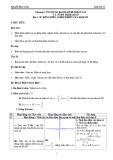 Giáo án Giải tích 12 – Bài 1: Sự đồng biến, nghịch biến của hàm số