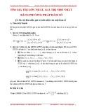 Giáo án Giải tích 12 – Tìm giá trị lớn nhất, giá trị nhỏ nhất bằng phương pháp hàm số