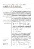 Sử dụng phương pháp ma trận chuyển cải tiến trong phân tích kết cấu dầm liên tục