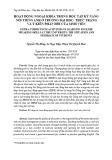 Hoạt dộng ngoại khóa trong học tập kỹ năng nói tiếng Anh ở trường đại học: Thực trạng và ý kiến phản hồi của sinh viên
