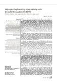 Hiệu quả của phân vùng mạng lưới cấp nước trong hệ thống cấp nước đô thị