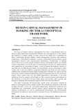 Human capital management in banking sector-a conceptual framework