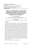 Impact of industrial partnered centric learning on innovative business practice traits (IBPT) in business management