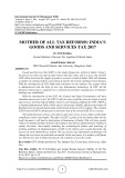 Mother of all tax reforms: India's goods and services tax 2017