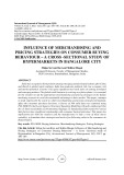 Influence of merchandising and pricing strategies on consumer buying behaviour – a cross -sectional study of hypermarkets in Bangalore city