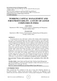 Working capital management and firm profitability: a study of listed companies in India