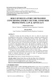 Role of regulatory mechanism concerning energy sector, consumer protection, law & advocacy