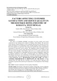 Factors affecting customer satisfaction and service quality in the boutique hotel industry of Kolkata, West Bengal