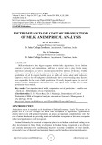 Determinants of cost of production of milk an empirical analysis