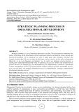 Strategic planning process in organizational development