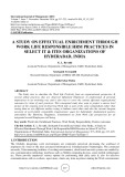 A study on effectual enrichment through work life responsible HRM practices in select it & ITES organizations of Hyderabad, India