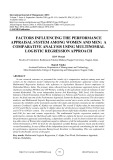 Factors influencing the performance appraisal system among women and men: a comparative analysis using multinomial logistic regression approach