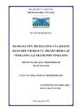 Luận văn thạc sĩ Quản trị kinh doanh: Đánh giá mức độ hài lòng của khách hàng đối với dịch vụ truyền hình cáp Vĩnh Long tại thành phố Vĩnh Long
