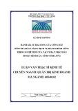 Luận văn thạc sĩ Kinh tế: Đánh giá sự hài lòng của công dân đối với chất lượng dịch vụ hành chính công theo cơ chế một cửa của Uỷ ban nhân dân huyện Bình Tân, tỉnh Vĩnh Long