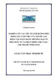Luận văn thạc sĩ Kinh tế: Nghiên cứu các yếu tố ảnh hưởng đến động lực làm việc của người lao động tại Ngân hàng Thương mại cổ phần Đầu tư và Phát triển Việt Nam - Chi nhánh Vĩnh Long