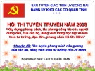 Bài thuyết trình Chuyên đề: Rèn luyện phong cách nêu gương của cán bộ, đảng viên theo tư tưởng Hồ Chí Minh