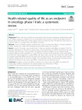 Health-related quality of life as an endpoint in oncology phase I trials: A systematic review