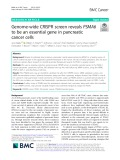 Genome-wide CRISPR screen reveals PSMA6 to be an essential gene in pancreatic cancer cells