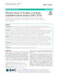 Thyroid Cancer in Ecuador, a 16 years population-based analysis (2001–2016)