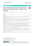 Non-functional pancreatic neuroendocrine tumours: Emerging trends in incidence and mortality