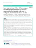 Gene expression profiling of homologous recombination repair pathway indicates susceptibility for olaparib treatment in malignant pleural mesothelioma in vitro